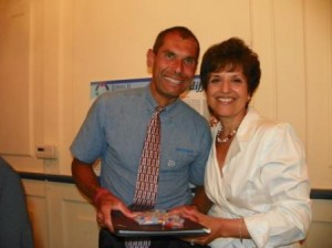 Victor Vientos with board member/parent, Lenore Puleo